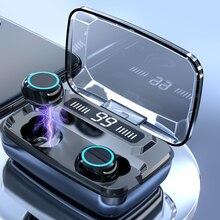 Fones de ouvido sem fio bluetooth v5.0 m11 tws bluetooth 5.0 in-ear fone de ouvido redução de ruído alta fidelidade ipx7 impermeável 3300mah power bank