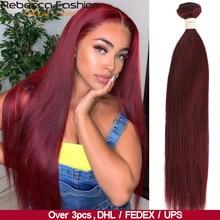 Rebecca Ombre Brazilian Straight Hair 1/3 Bundles Two Three Tone Remy Human Hair Bundles Deals 1B/4/27/30/99J/613 Blonde