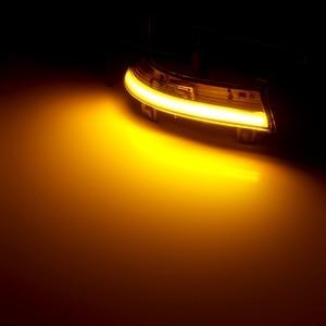 Image 5 - 2 stück für Passat B6 VW Golf 5 Jetta MK5 Dynamische Led Blinker Licht Blinker LED Rückspiegel Anzeige auto Teile