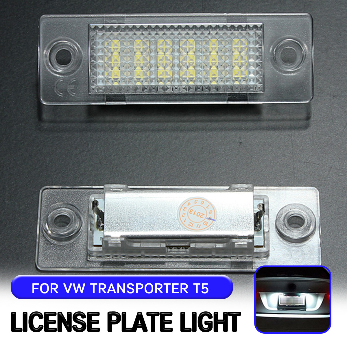 For <font><b>VW</b></font> Golf 5 Plus Caddy III Passat Transpiarter <font><b>T5</b></font> Touran Jetta For Skoda Superb 2pc <font><b>LED</b></font> License Number Plate <font><b>Light</b></font> Lamp image