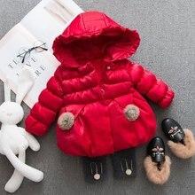 Пуховик для девочек; Модная хлопковая одежда с капюшоном