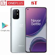 Orijinal resmi yeni Oneplus 8T 5G Smartphone 6.55 inç AMOLED 48.MP arka kamera 120Hz yenileme hızı 4500mah 65W çözgü şarj NFC
