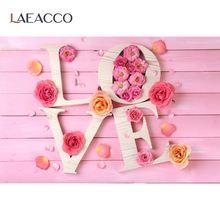 Laeacco розовая деревянная доска Цветы Лепестки День Святого