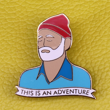 Bill Murray Brooch Great Movie Star Pins Ghostbusters Actor Badge Artist Decor For fans image