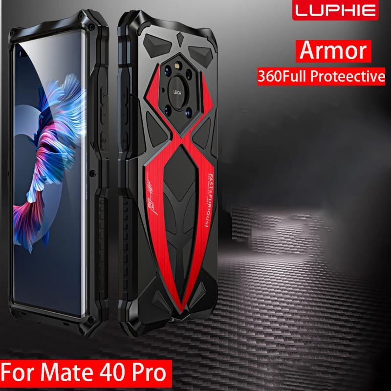 Coque de protection complète en Silicone, armure 360 métallique, antichoc, pour Huawei Mate 40 Pro