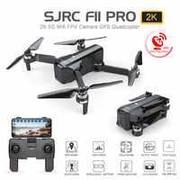 SJRC F11 PRO GPS Drone Wifi FPV 1080 P/2 K HD Cámara F11 sin escobillas Quadcopter 25 minutos de tiempo de vuelo plegable Dron del SG906