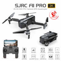 Sjrc f11 pro wifi fpv 1080 p/2 k hd 카메라 f11 brushless quadcopter 25 분 비행 시간 foldable dron vs sg906