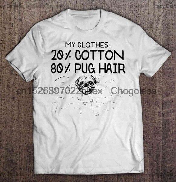 Футболка в стиле хип-хоп, моя одежда, 20% хлопок, 80% футболки с волосами Мопса