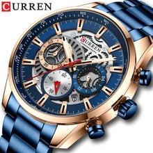 CURREN 2021 nowych mężczyzna nieformalny sportowy zegarek, Top męski zegarek luksusowej marki, wodoodporny Luminous ze stali nierdzewnej męska Wrist Watch