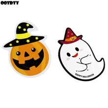 50pcs/lot Ghost Pumpkin Halloween Gift Lollipop Cards Candy Decorations Party Supplier