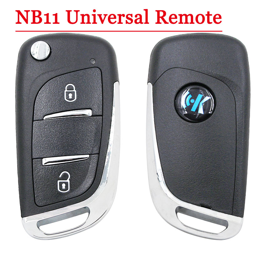 Free Shipping (1 Piece)NB11 Universal Multi-functional Kd Remote 2 Button NB Series Key For KD900 URG200 Remote Master