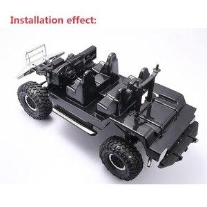 Symulacja konsola środkowa części do Traxxas TRX4 Land Rover Defender RC Car DIY emulowane zestawy wnętrza samochodu