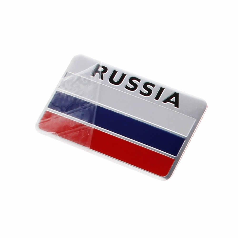 1 Pcs 3D Aluminium Italië Duitsland Frankrijk Rusland Australië Engeland Zwitserland Spanje Kaart Nationale Vlaggen Auto Sticker Auto Styli