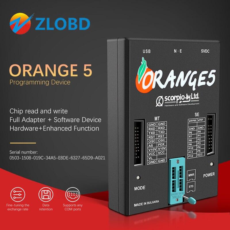 Orange 5 Programmer orange5 plus full set OEM Full Adapter and Software Device Hardware+Enhanced Function best serial number orange 5 orange5 programmerorange 5 programmer - AliExpress