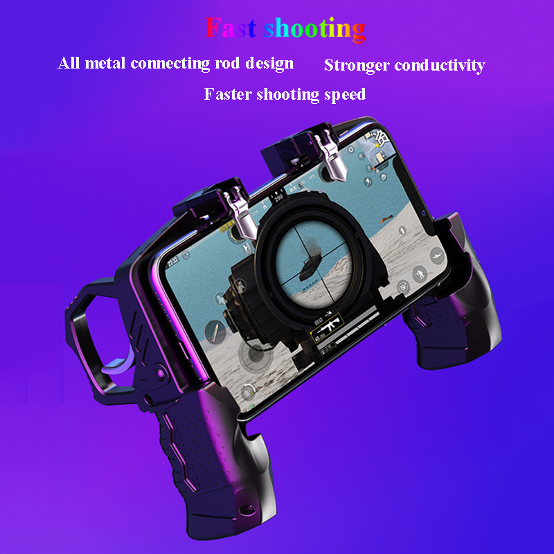 Metal Pubg Controller Joystick For Pubg Mobile Trigger Gamepad For iPhone Android Phone Shooting Game 2