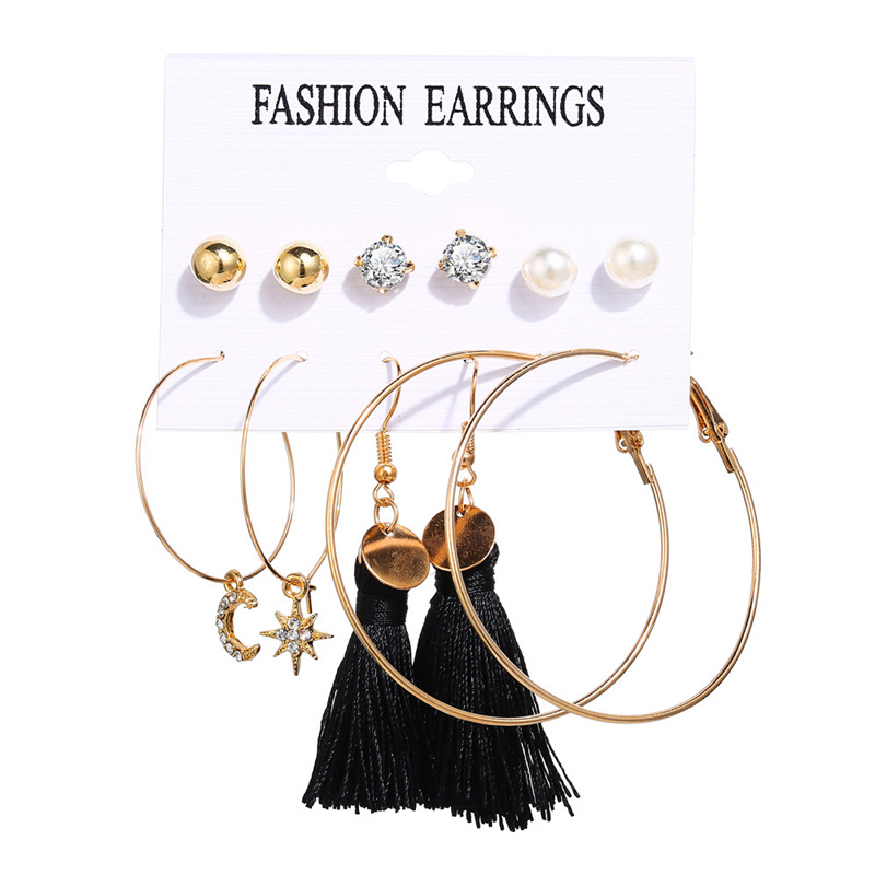 Hfb76474f14724fa29cae348caeb34a09R - IF ME Fashion Vintage Gold Pearl Round Circle Drop Earrings Set For Women Girl Large Acrylic Tortoise shell Dangle Ear Jewelry