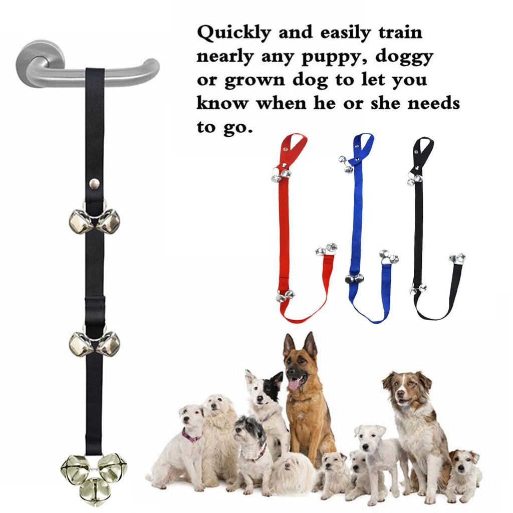 Dog Doorbells Premium Quality Training Potty Great  Adjustable Dog Bells For Pot Housebreaking Clicker Door Bell Training Tool-0