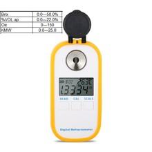Digitale Alcohol Refractometer Brix 0-50% Alcohol 0-22% Vol Kmw 0-25% Oe 0-150 suiker Druif Wijn Concentratie Meter Doos
