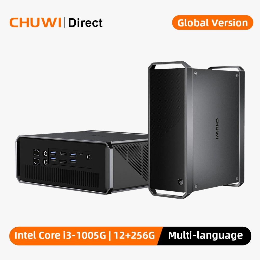 CHUWI CoreBox Pro Mini masaüstü bilgisayar 10th Intel Core i3 12GB RAM 256GB ROM Windows 10 Mini PC thunderbolt 3 RJ45 DP bağlantı noktası