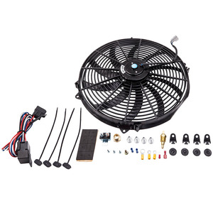 """Image 1 - 16 """"3000 CFM Fan 10 Klingen Kühler Lüfter Reversible 12V Thermostat"""