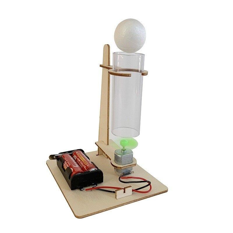 Nuevo Producto, creatividad Diy, tecnología de producción pequeña, Material de suspensión eléctrica, Bola de soplado, experimento, rompecabezas, juguete de ensamblaje