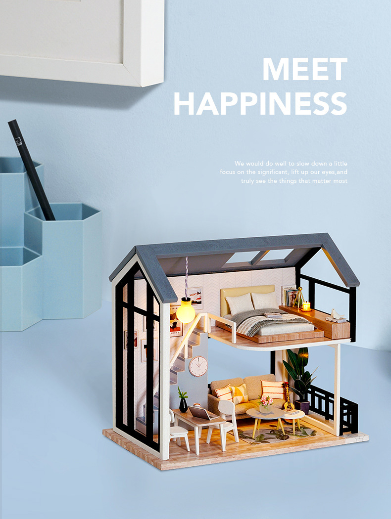 Meet Happiness DIY Nordic Miniature House (QL 002 Without cover)