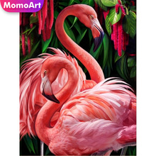MomoArt 5D Diamond Painting Animal  Full Drill Square DIY Embroidery Flamingo Handwork Home Decoration