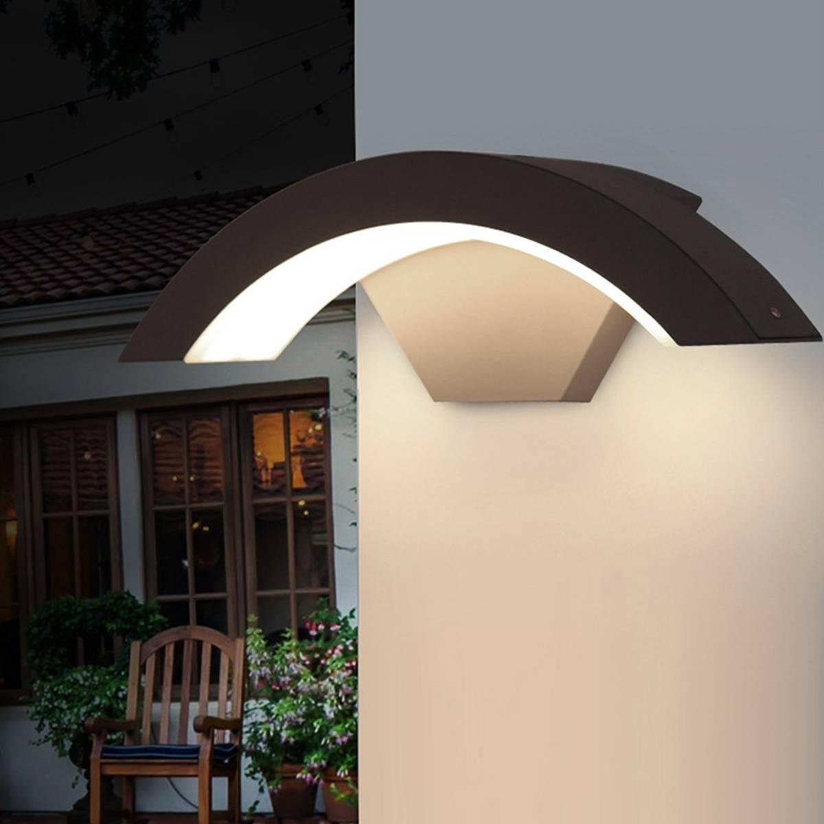 Smuxi 15W 220V Wall Light Outdoor Waterproof IP54 LED Wall Lamp Garden Yard Porch Outdoor Lighting Lamp Stylish Contemporary