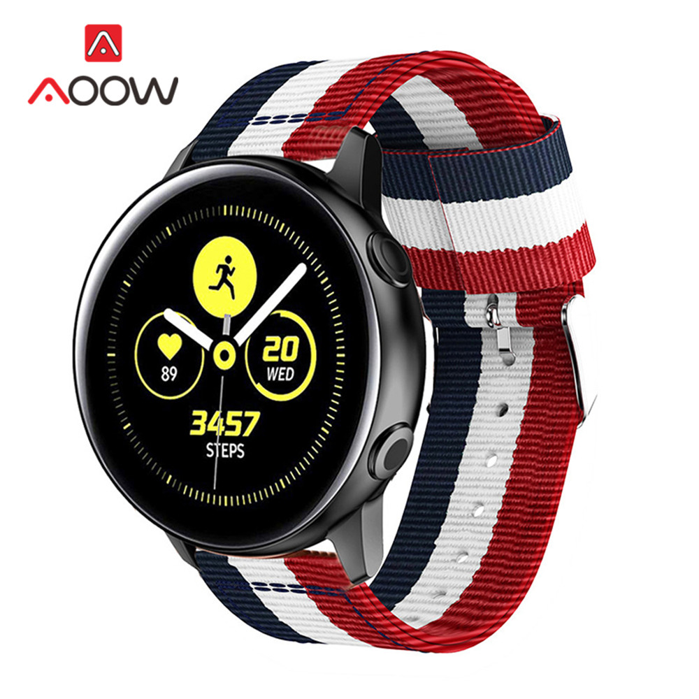 20mm 22mm Nylon Strap For Samsung Galaxy Watch Active 2 40mm 44mm 42mm Gear S2 S3 Active2 Amazfit Huawei Bracelet Band Correa