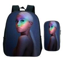Ariana Grande School Bags Beautiful Popular Pattern Kids Kindergarten Backpack Beautiful Kindergarten School Rucksack + Pen Case printio ariana grande