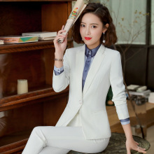 High quality professional womens suits pants suit New slim large size white blazer Casual high waist skirt