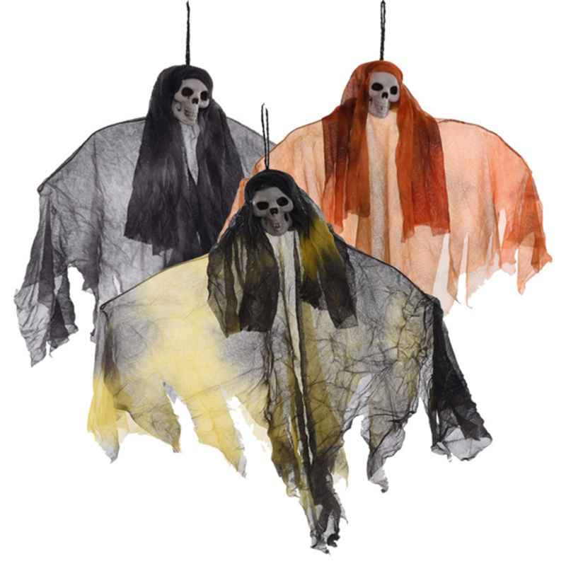 Party Decoration Halloween Props Hanging Decor Haunted House Scary Skull Doll