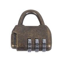 Cerradura de contraseña pequeña Vintage estilo antiguo chino caja de cofre de joyería código candado con bloqueo con contraseña de aleación de Zinc