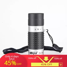 Bijia 7x18 Telescope High Definition Ultra-Light Mini Monocular Pocket Carrying Hunting Camping for Adults and Kids Tools
