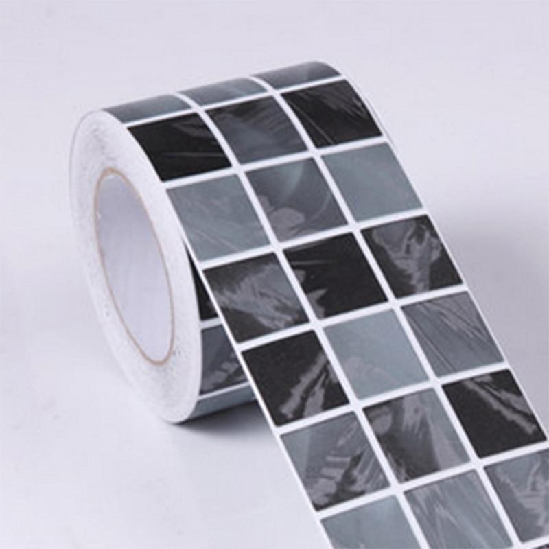 Купить с кэшбэком Classical Mosaic Vinyl Waterproof Self Adhesive Wallpaper Kitchen Bathroom Toilets Tile Waistline Wall Sticker Border Decoration