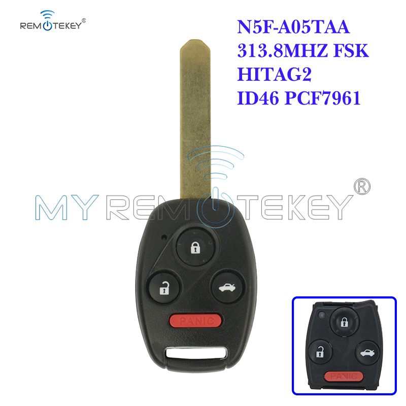<font><b>Remote</b></font> Car <font><b>Key</b></font> N5F-A05TAA 3 Button with Panic 313.8 Mhz for <font><b>Honda</b></font> 2012 2013 <font><b>Civic</b></font> Hybrid EX SI 2014 Accord Remtekey image