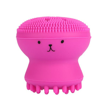 Silicone Face Cleansing Brush Design facial Health Beauty Waterproof Machine  Facial Octopus Shape Exfoliator Scrub