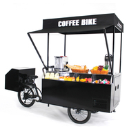 New design hot dog /mini shop street mobile vending fast food bbq bike with machines free shipping by sea
