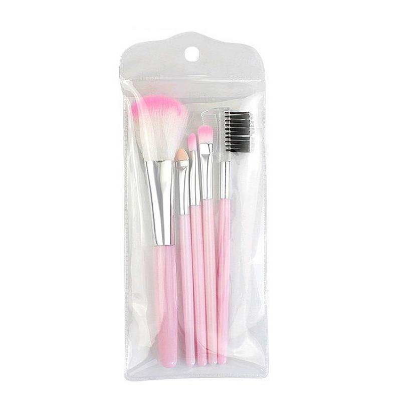 5 sets of makeup brush set pink black eye shadow powder brushes 13cm 3