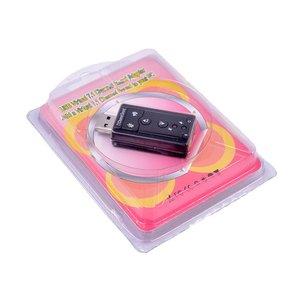Звуковая карта 7.1 внешняя, звуковая карта с разъемом USB и выходами 3,5 мм для наушников, аудиоадаптер для микрофона, звуковая карта для Mac, Win, Android, Linux