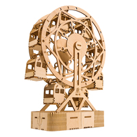 129Pcs DIY 3D Ferris Wheel Puzzle Wooden Model Building Kit Assembly Ferris Wheel Toy block assembly toys
