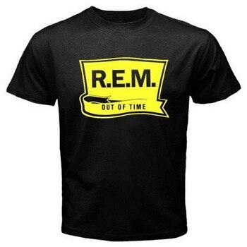 Nuevo R E M Camiseta negra con banda de Rock alternativa para hombre, tallas S a 3XL, nueva moda de algodón