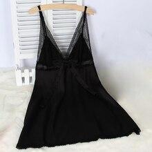 Женское кружевное Сетчатое атласное белье, одежда для сна, халат, сексуальные ночные рубашки, ночная одежда