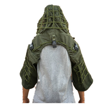 New Tactical CS Training Hunting Clothes With Yarn Sniper Camouflage Mesh Ghillie Suits Foundation Outdoor Shooting Jacket Sets 4