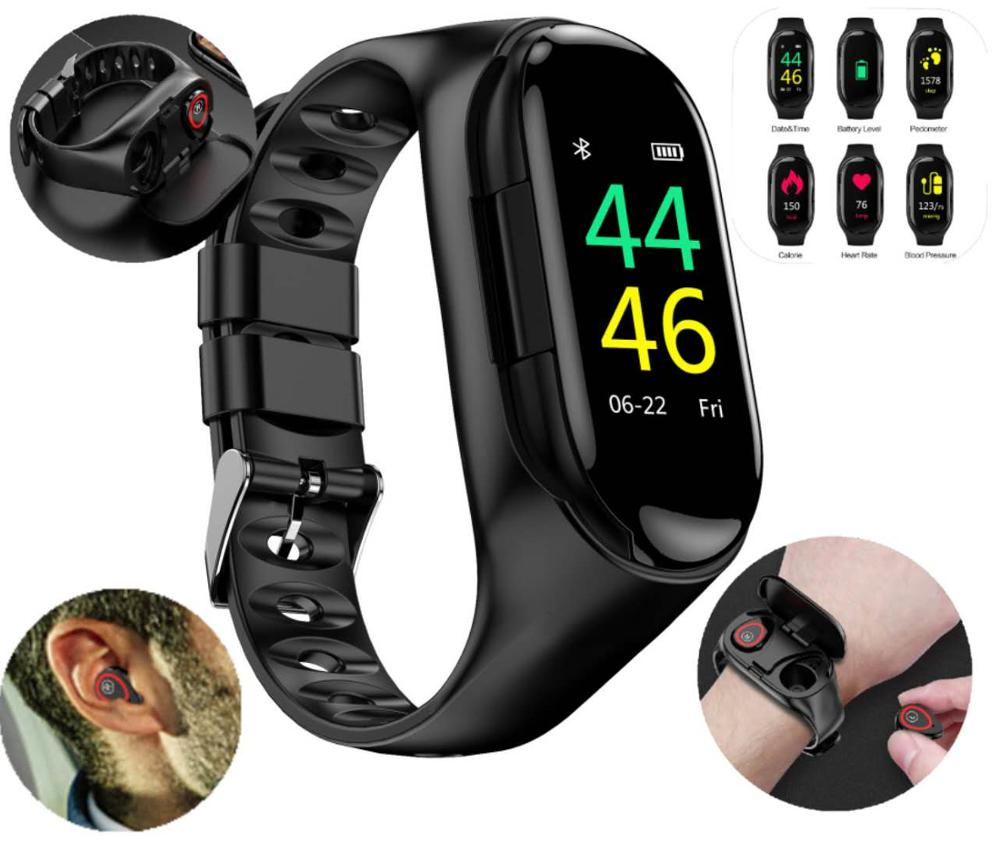Wireless Bluetooth Headset Smartwatch 2 In 1 Suitable For Ios Android Mobile Phone M1 Watch Headset Smart Wristbands Aliexpress