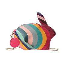 3D Cute Kawaii Handbag Cartoon Funny Bunny Mini Shoulder Bags for Women 2019 New Fashion Rabbit Small Chain Crossbody Bag