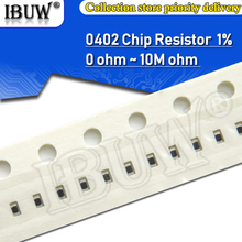 SMD Resistor 0402 0R 10K 150R 100R Ohm 1-% 1R 100pcs 1-10-100 0r--10m 1/16w 220r-330r