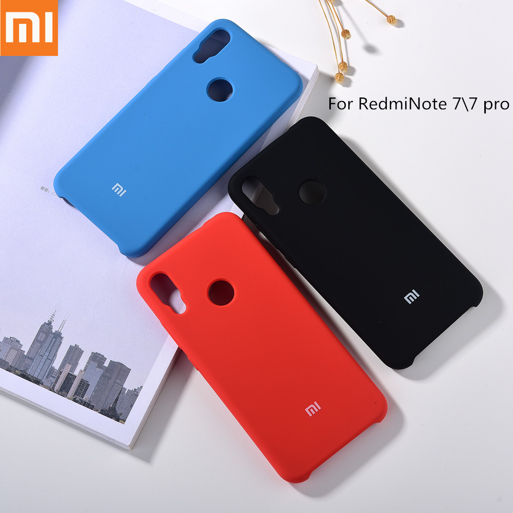 Original <font><b>Redmi</b></font> <font><b>Note</b></font> <font><b>7</b></font> Pro Official Cover Liquid Silicone <font><b>Case</b></font> Smooth-Touch Soft Silky Shell Protection Back Cover with <font><b>Logo</b></font> 6.3 image