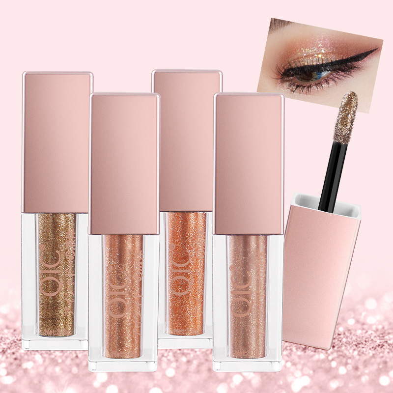 6 Colors Glitter & Shimmer Diamond Liquid Eyeliner Eye Shadow Waterproof Long Lasting Shining Eyes Make Up Tools TSLM2