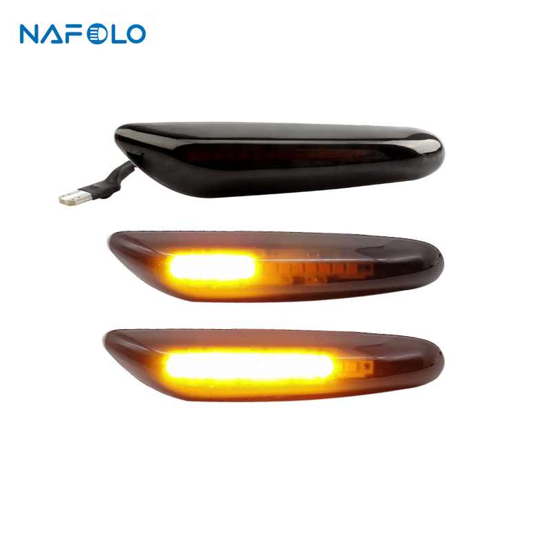 For BMW E46 E36 E60 E61 E90 E92 E93 X1 E84 X3 Led Dynamic Turn Signal Light Side Fender Marker Sequential Blinker Lamp image